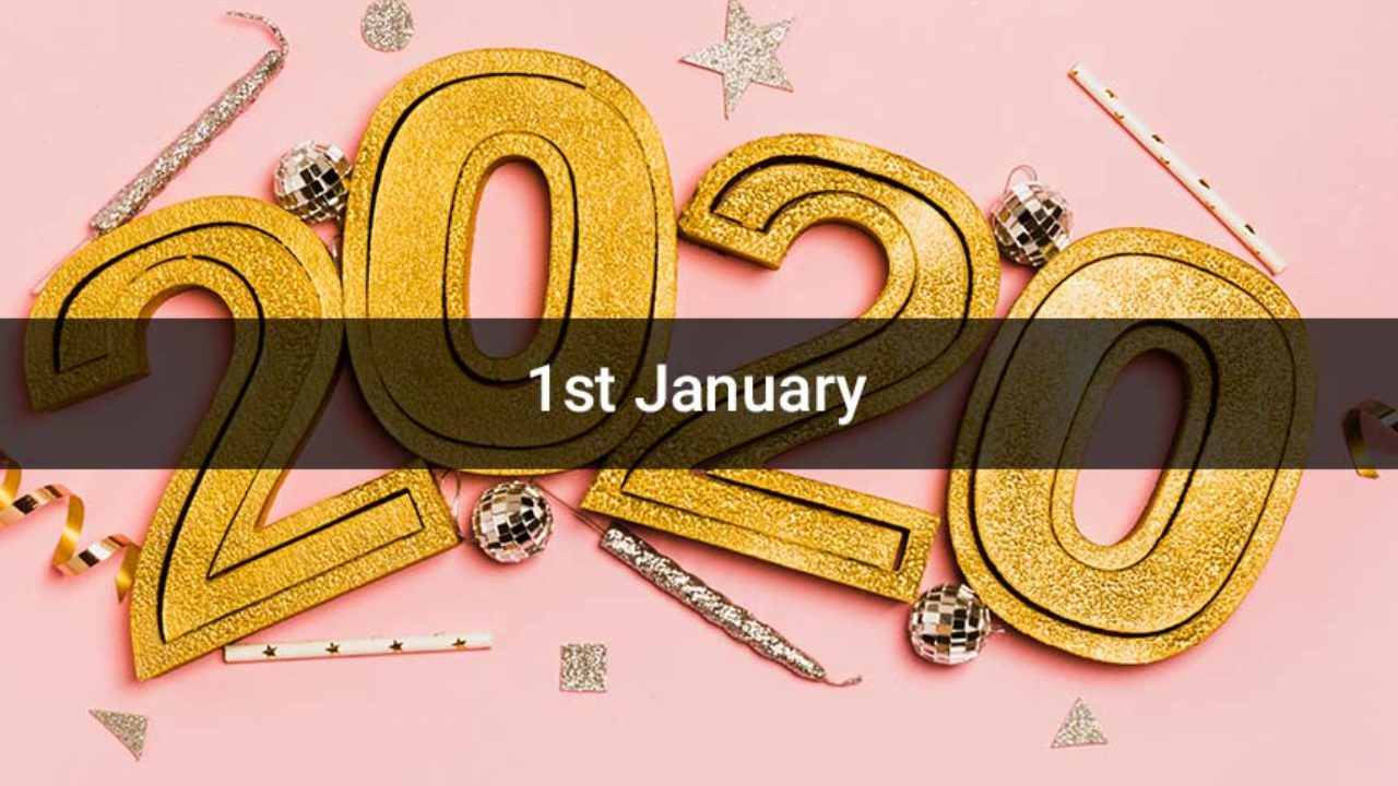 Happy 1st January 2020 Images GIF Pictures Photos for Whatsapp 1280x720