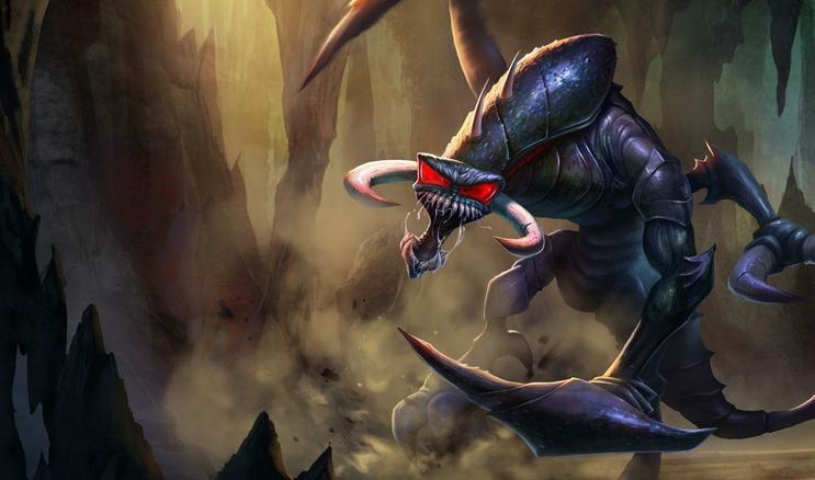 CN ] Nightmare ChoGath Official League of Legends Splash Art 743x438