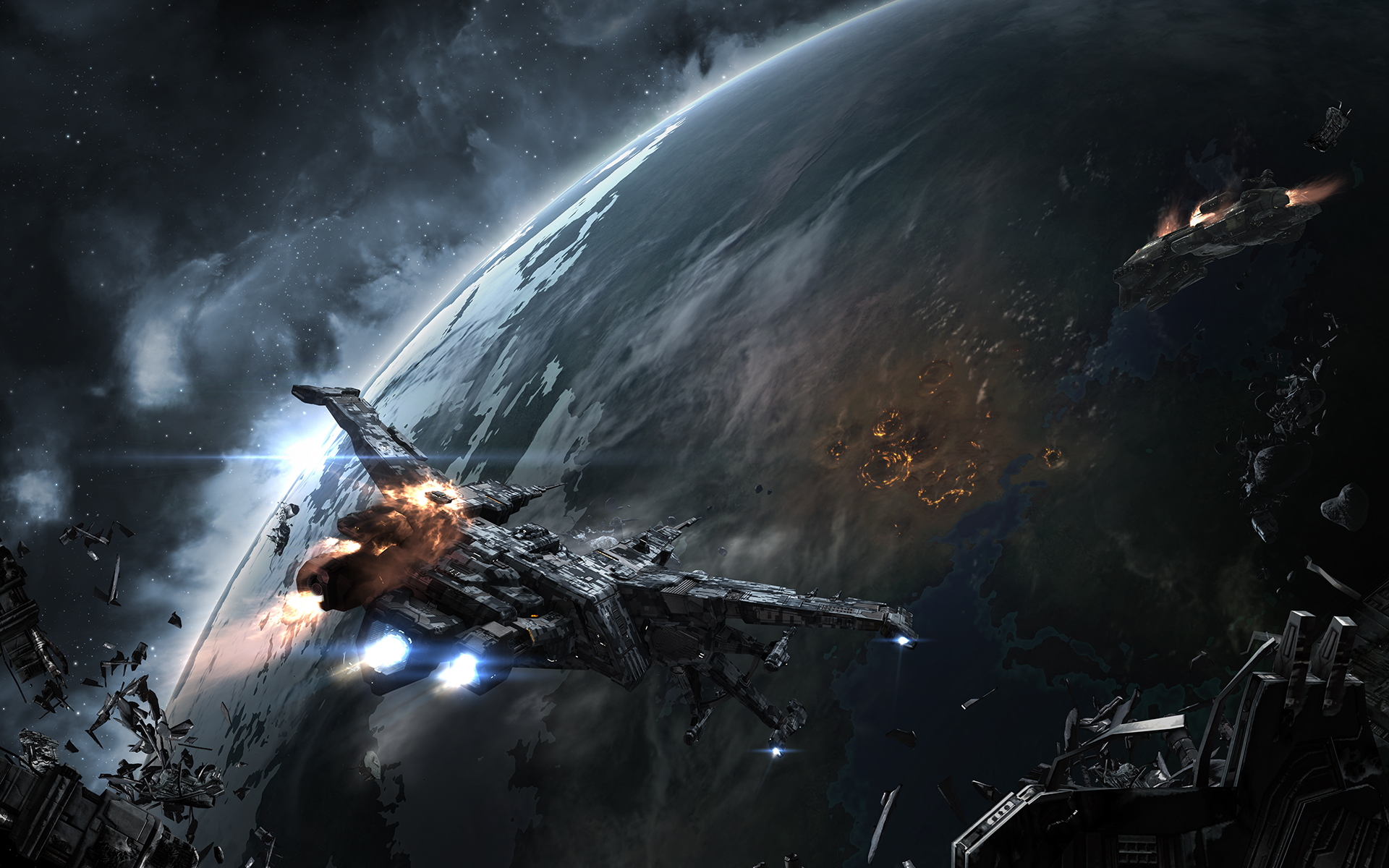 Ships Planets Games Space spaceship planet sci fi wallpaper background 1920x1200