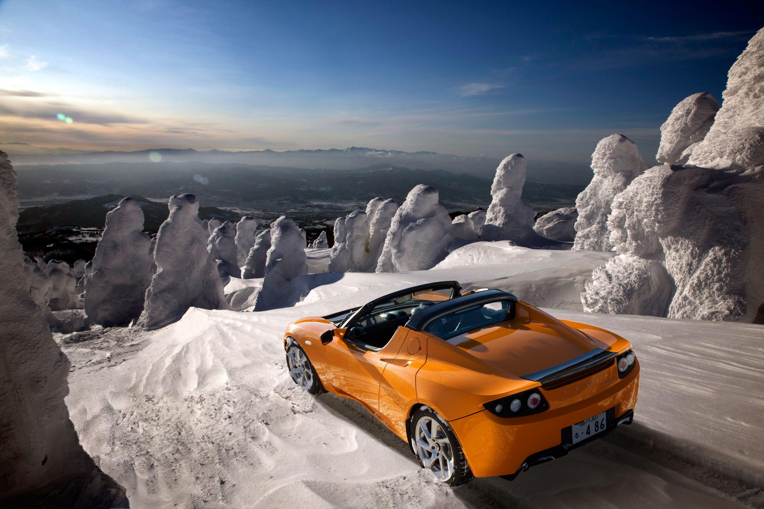 Tesla Roadster Orange Wallpaper 2560x1707 ID33892 2560x1707