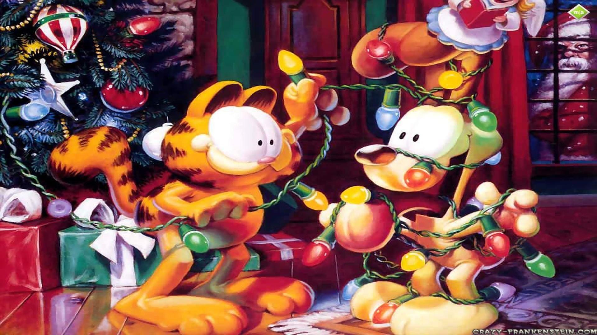 garfield desktop wallpaper odie christmas 1920x1080 1920x1080