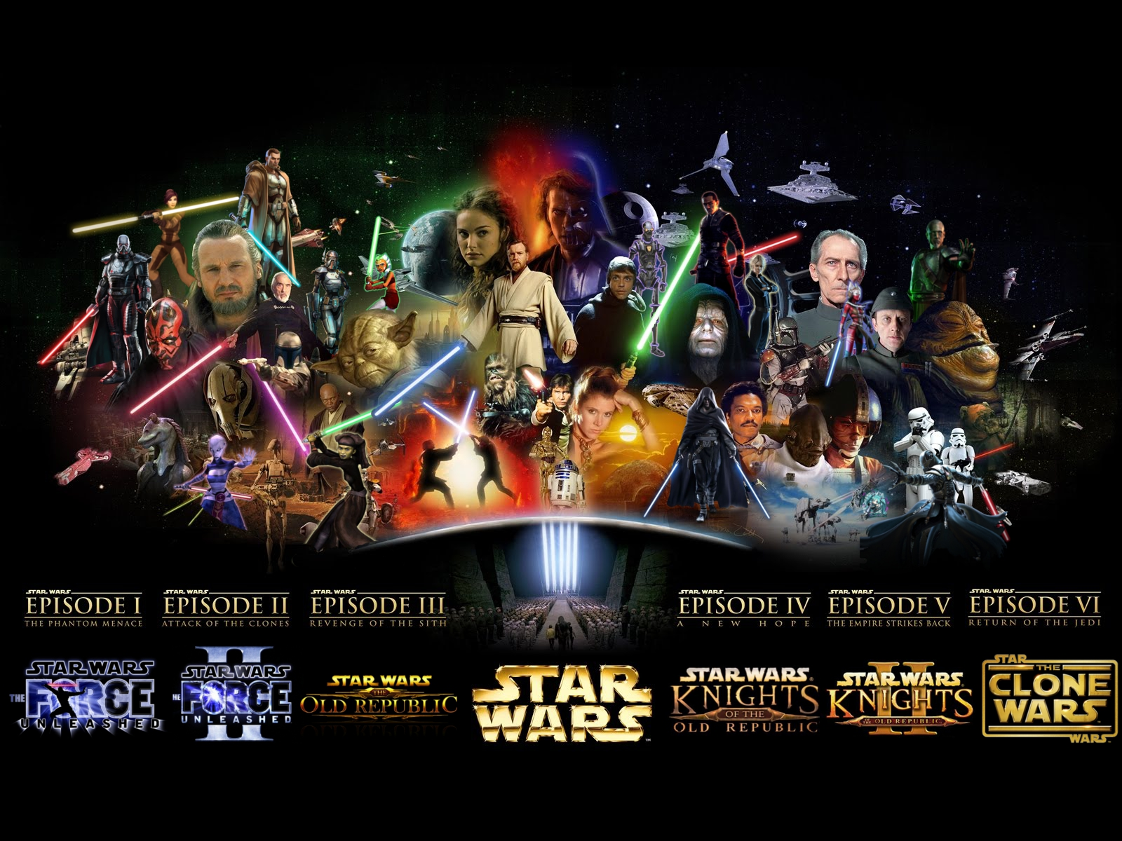Largest Collection of Star Wars Wallpapers For Download 1600x1200