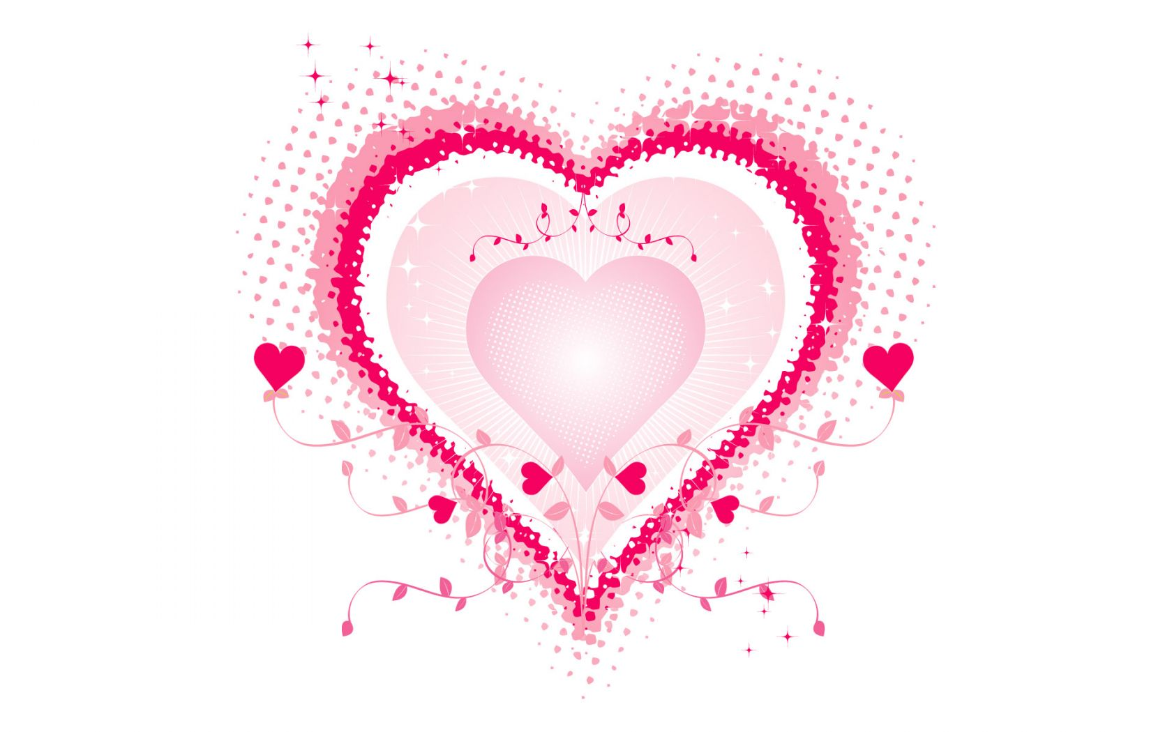 Pink Love Heart Backgrounds - WallpaperSafari