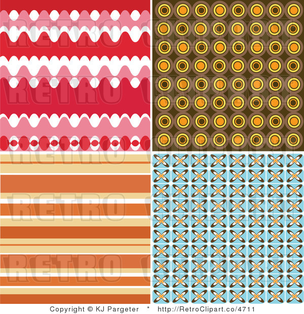Royalty Retro Colorful Background Patterns by KJ Pargeter   4711 600x620