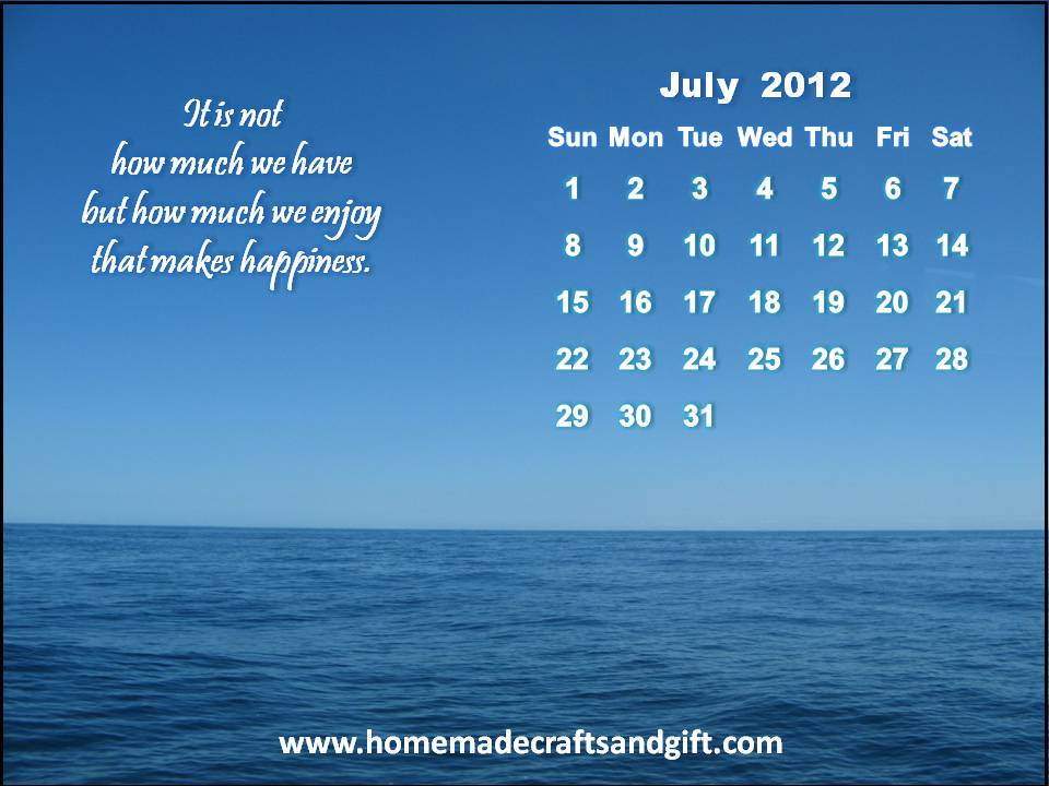 2016 Calendars Bookmarks Cards 7 July 2012 Calendar wallpaper 960x720