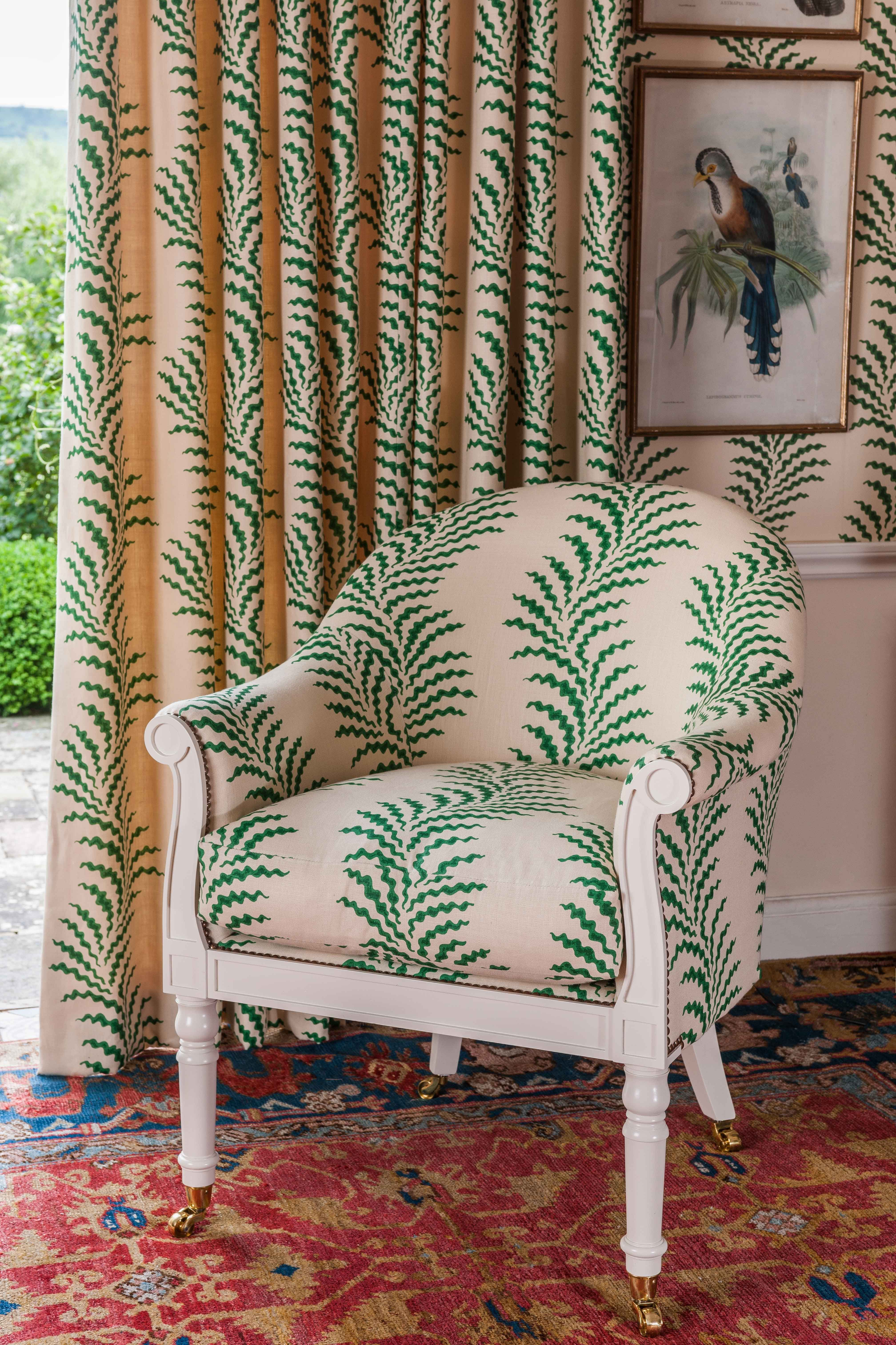 Soane Britains Spoonbill Chair upholstered in Scrolling Fern 4032x6048