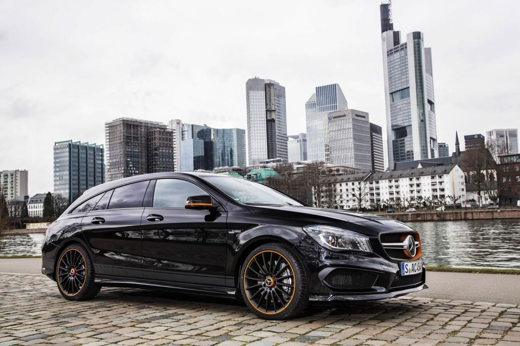 Mercedes Benz CLA 45 AMG Shooting Brake OrangeArt Edition wagon 1051x700