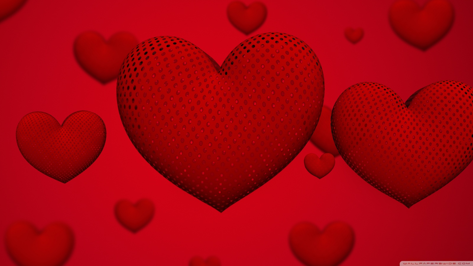 Valentines Day Hearts Ultra HD Desktop Background Wallpaper for 1600x900