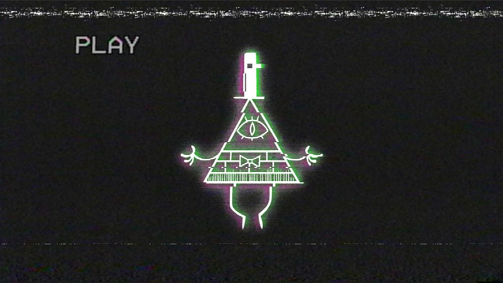 Glitched Bill Cipher Wallpaper from Gravity Falls by 1023x575