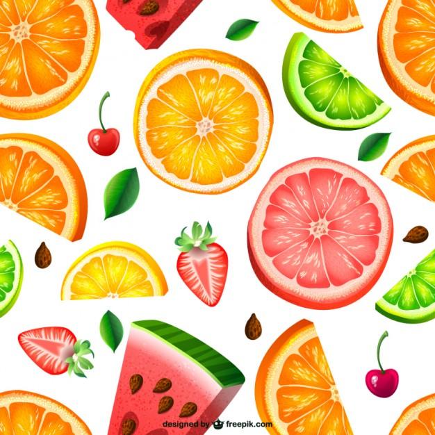 Seamless fruit pattern Vector 626x626