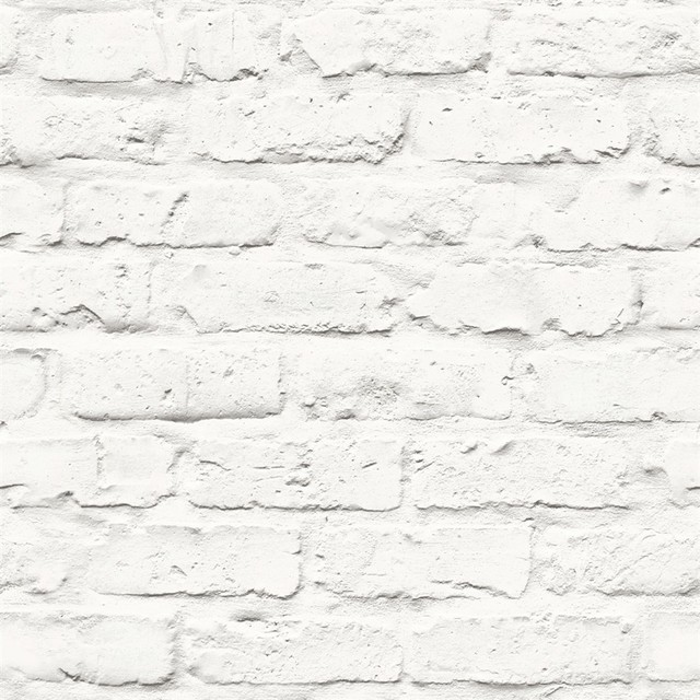 Faux Brick Wallpaper White Double Roll   Industrial   Wallpaper   by 640x640