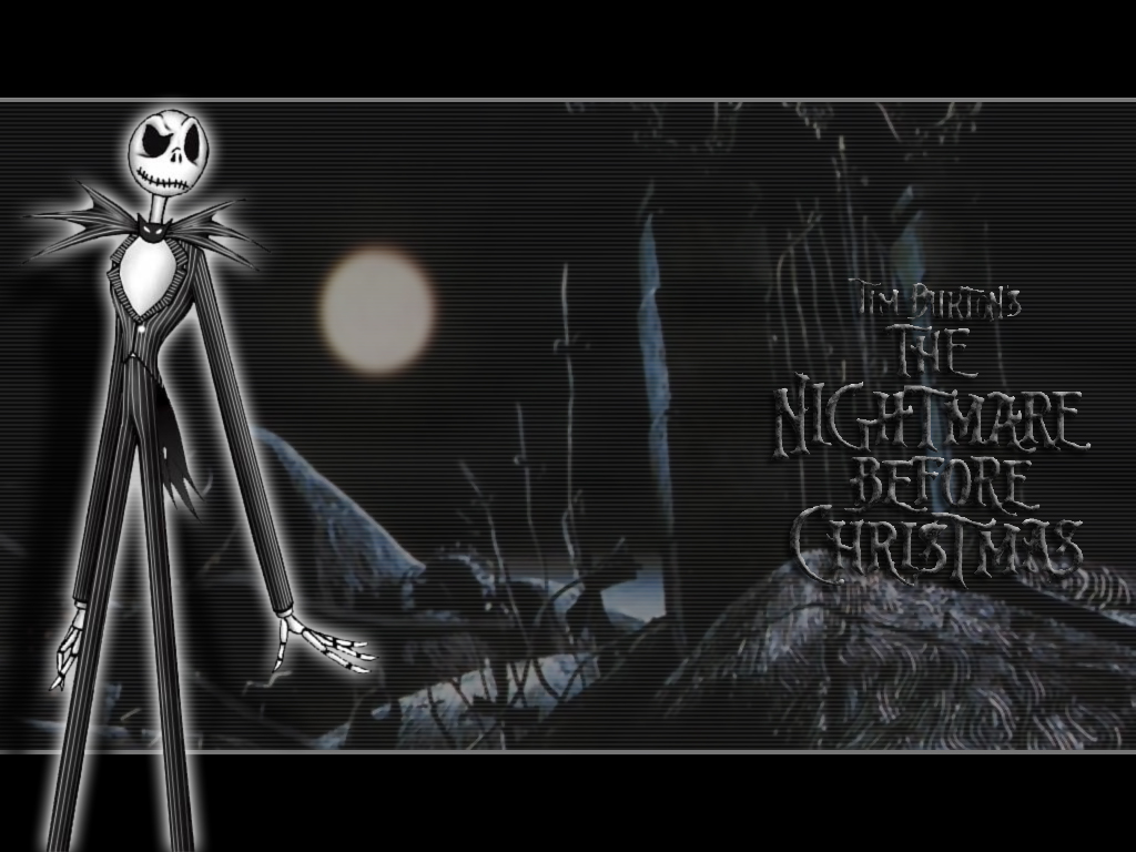 in the Woods Nightmare Before Christmas Wallpaper   Christmas Cartoon 1024x768