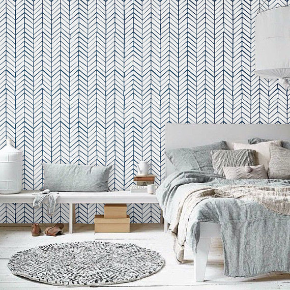 Self adhesive vinyl temporary removable wallpaper wall decal 570x570