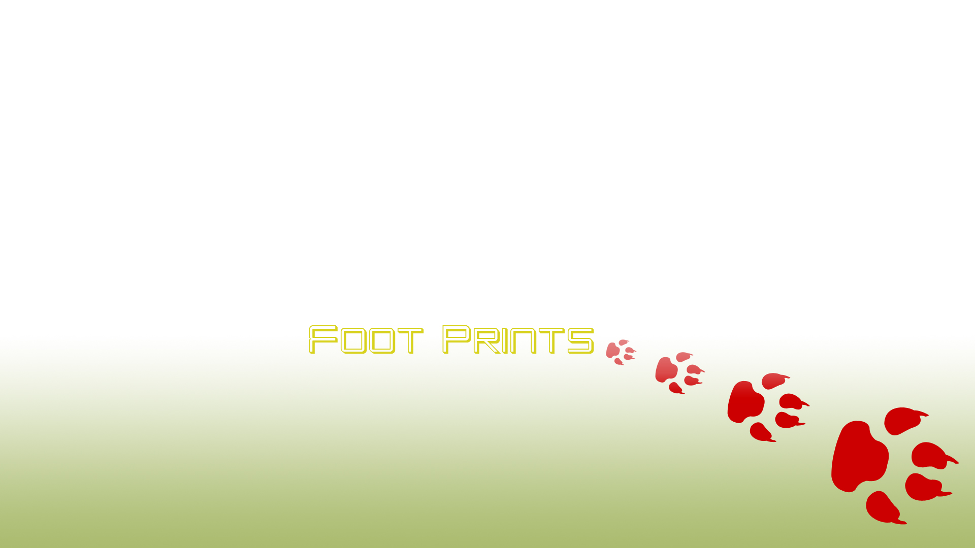 Wallpaper for Windows XP desk top wallpaper Foot Prints 1920x1080