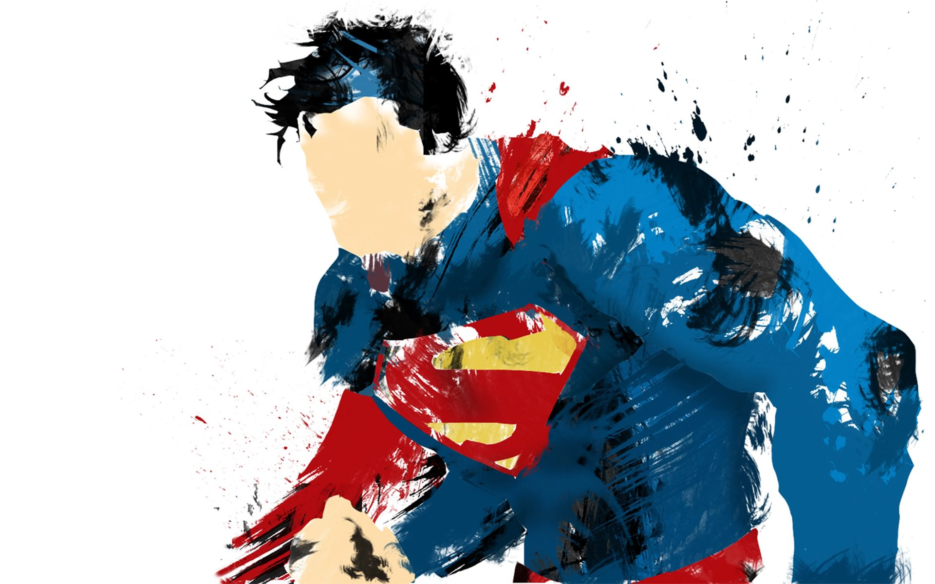 Superman Man of Steel Painted Wallpaper   DigitalArtio 1920x1200
