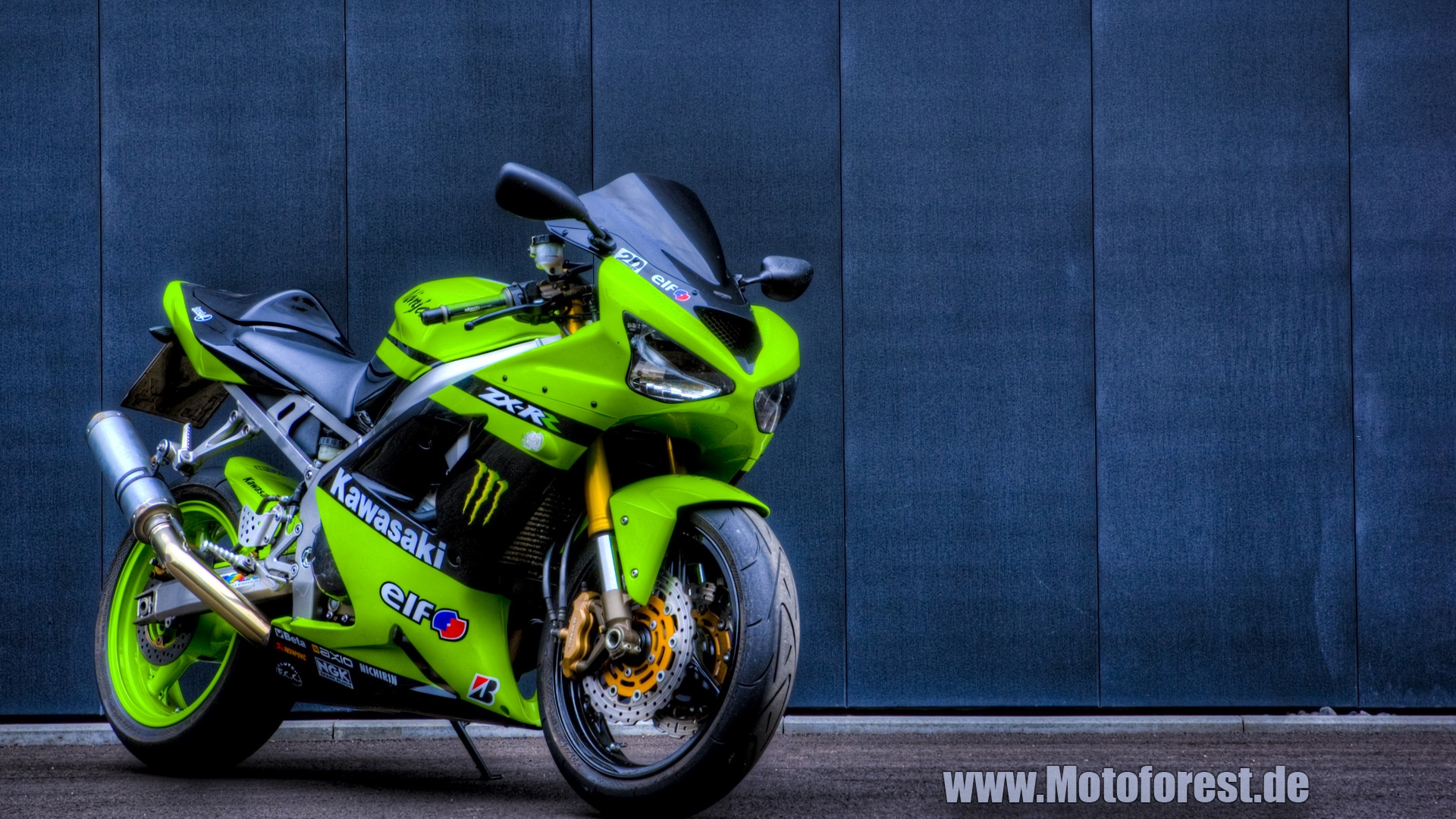 download Kawasaki ZX6R Wallpaper Hintergrundbild HDR 1920x1080