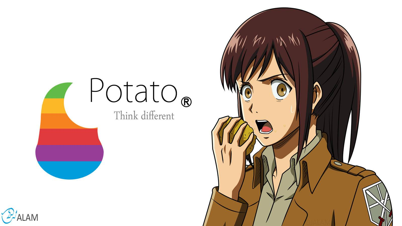 Free Download Potato Girl Attack On Titan Wallpaper 1600x900 For Your Desktop Mobile Tablet Explore 50 Kawaii Potato Wallpaper Cute Kawaii Wallpapers Kawaii Bear Wallpaper Kawaii Girl Wallpaper