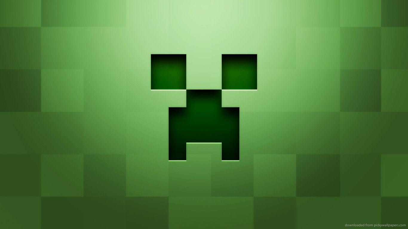 Minecraft Wallpaper Epic Creeper Face Minecraft Wallpaper 1366x768