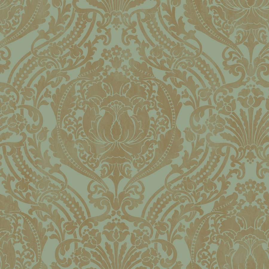 Damask Aqua Strippable Non Woven Prepasted Wallpaper Lowes Canada 900x900