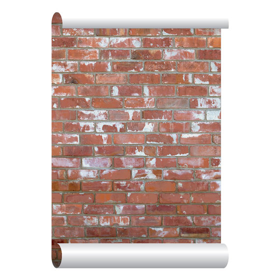 Self adhesive Removable Wallpaper Red Brick Wallpaper Peel and Stick 570x570