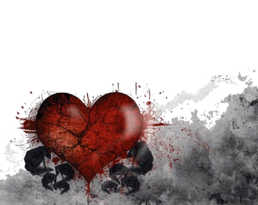 Excite Wall Broken Heart Wallpaper 895x709