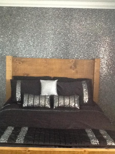 Beautiful Silver Glitter Wallpaper for Bedroom Wall 65 Home Design 450x600