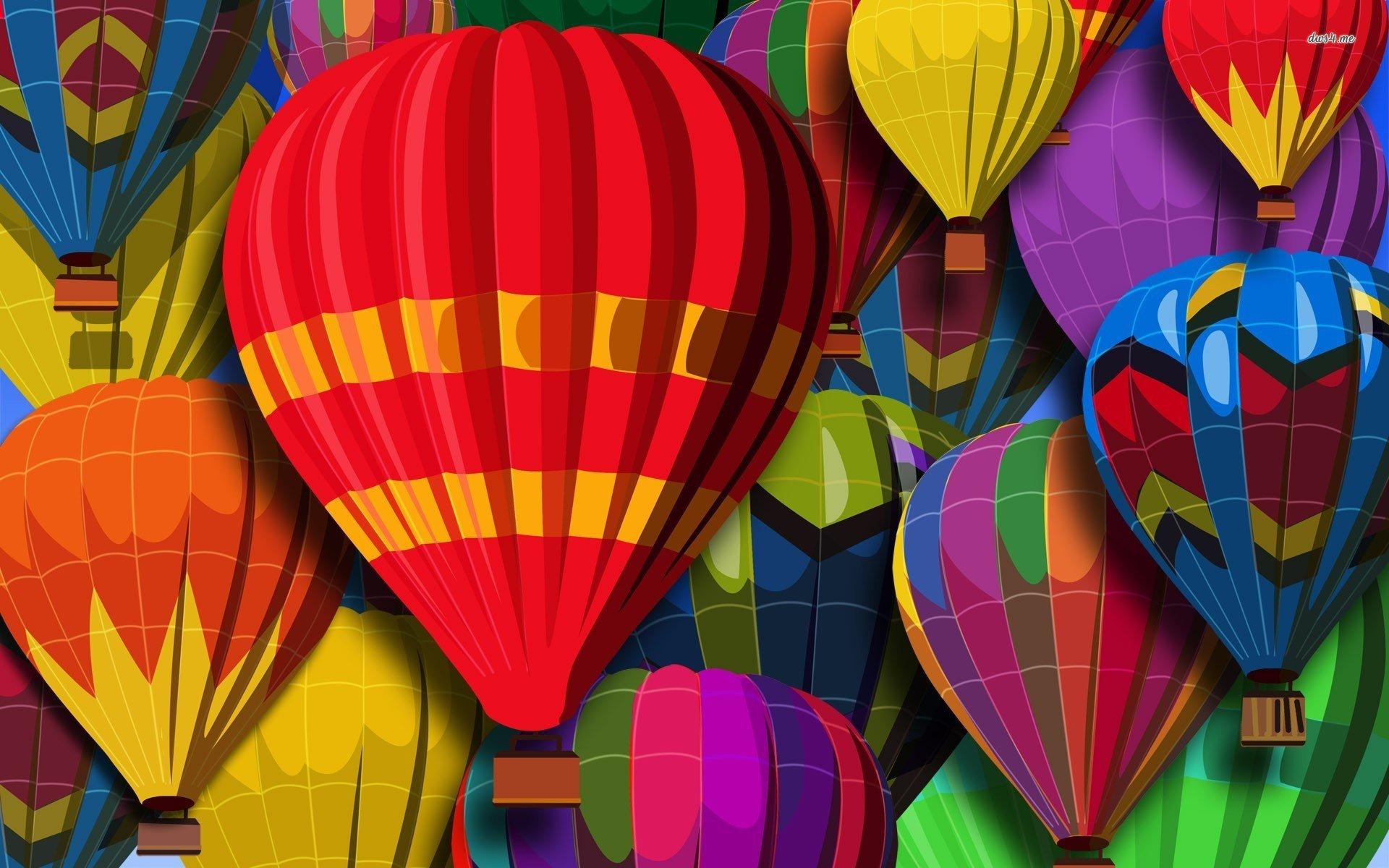 Colorful hot air balloons wallpaper   Vector wallpapers   21822 1920x1200