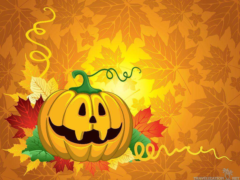 Gallery For gt Cute Pumpkin Halloween Wallpaper 1024x768