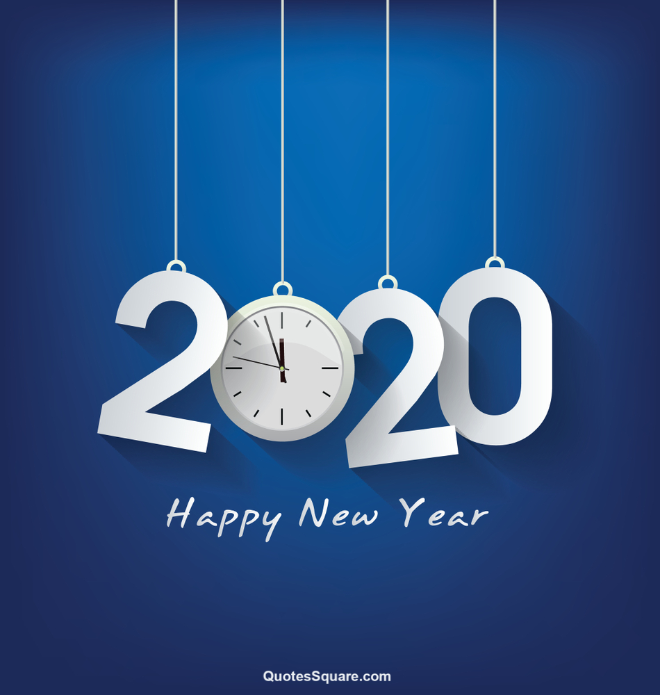 Happy New Year Wallpapers 2020 Blue Clock Hd   Happy New Year 950x1000