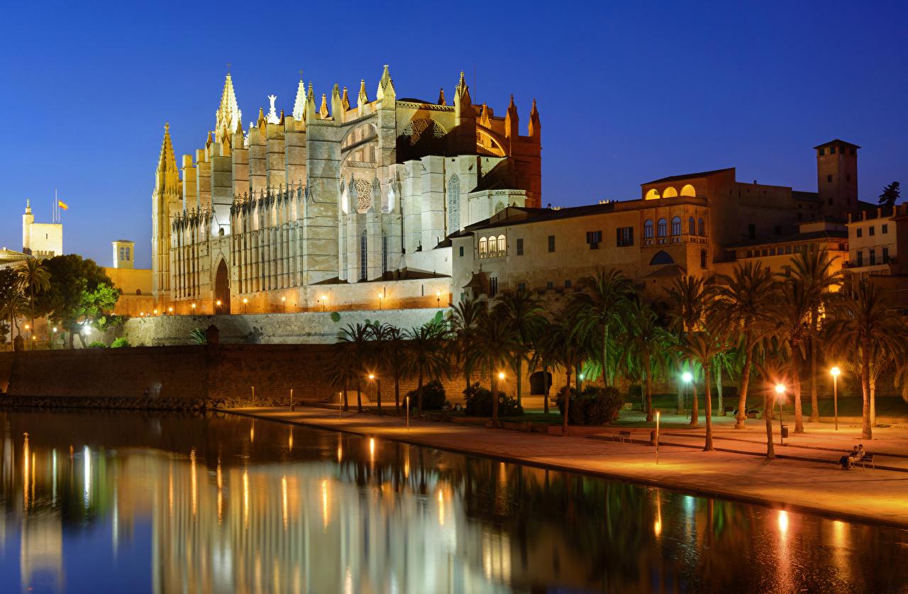 Wallpaper Majorca Mallorca Palace Spain Palma de Mallorca Canal 1280x838
