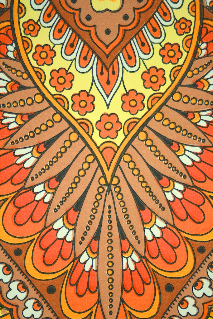 Indian LSD 1970 Wallpaper Retro Behang Papier peint 683x1024