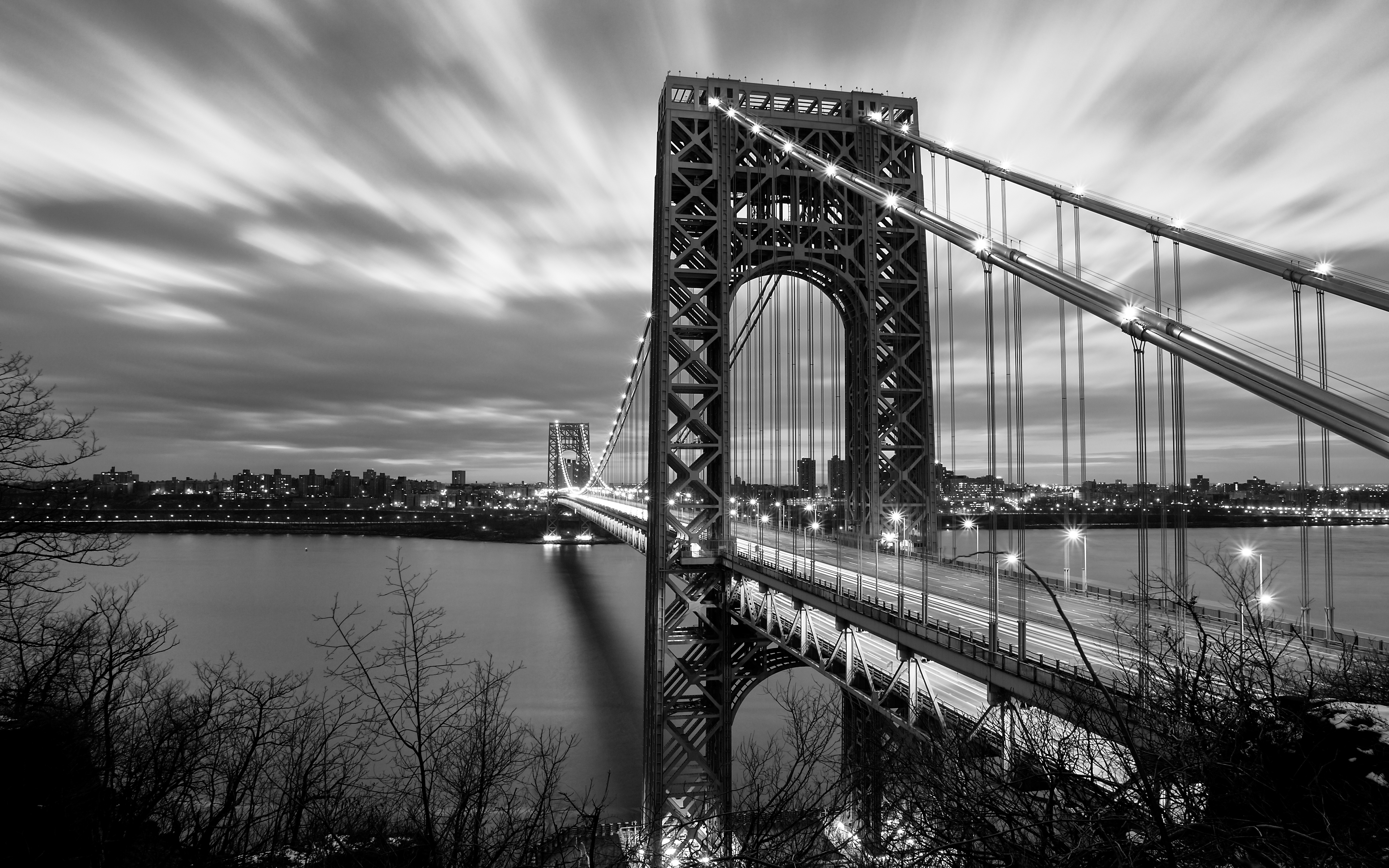 George Washington Bridge 4k Ultra HD Wallpaper Background Image 3840x2400