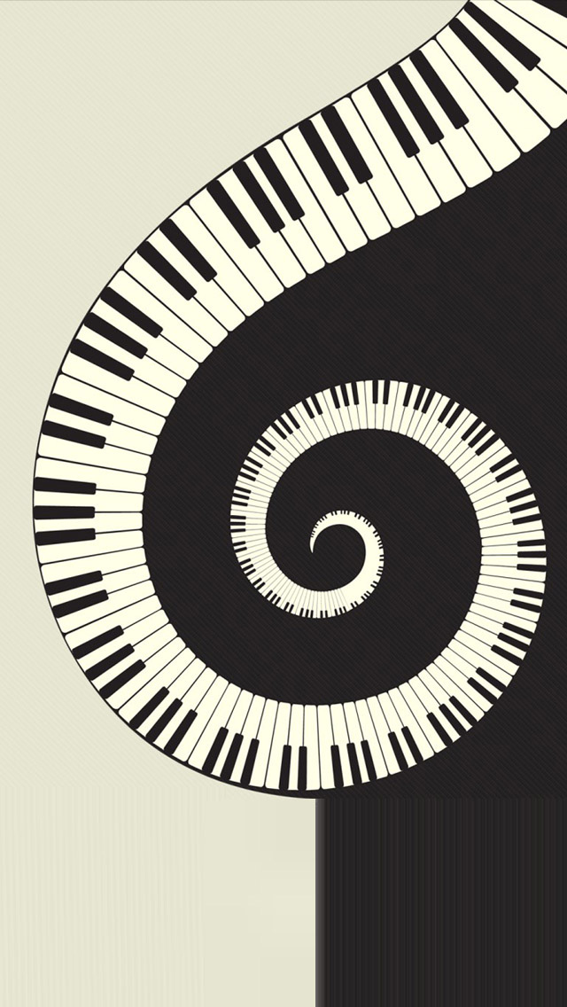iPhone 5 wallpapers HD   Rotating piano Backgrounds 640x1136