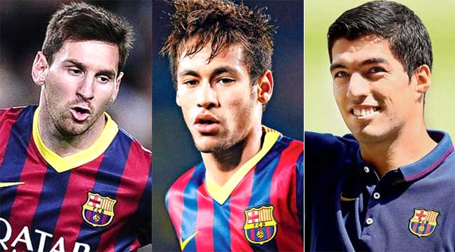 Messi Neymar Suarez Wallpaper 2015 Lionel messi neymar and luis 650x360