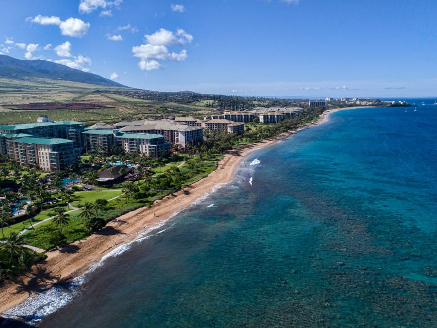 Aerial View of Kaanapali Beach on Maui Hawaii USA Mural Murals 900x675