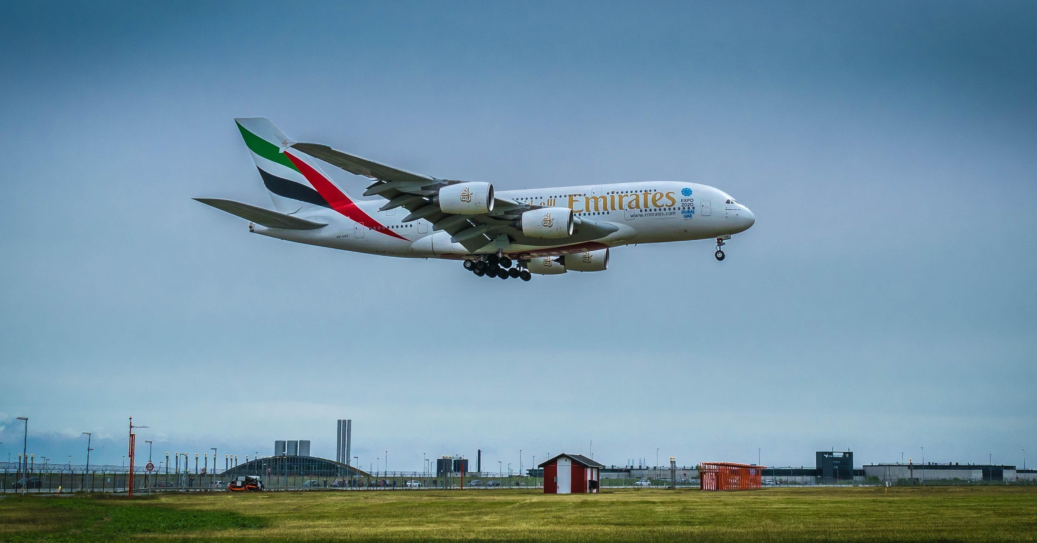 1360x768 wallpaper fly emirates airplane Peakpx 3415x1790