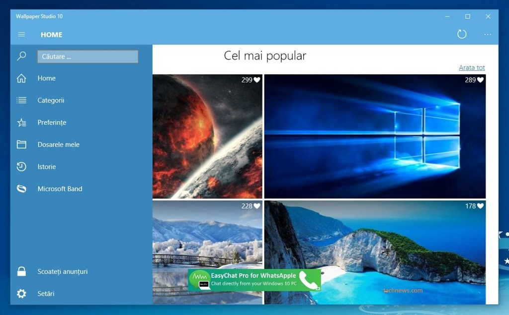 Wallpaper Studio 10  imagini de fundal pentru Windows 10 i Microsoft 1024x635