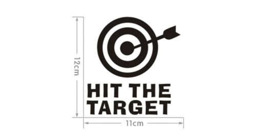 Hit The Target Waterproof Wall Stickers Decal Decor Removeable eBay 500x259