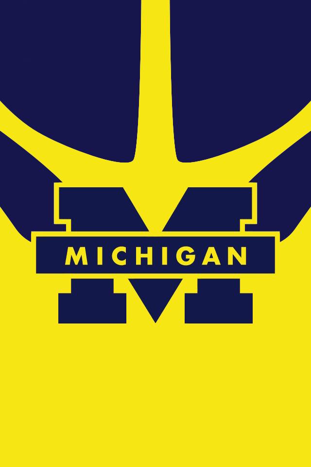 Michigan Wolverines iPhone wallpaper BeatOhio PinToWin U of M 640x960