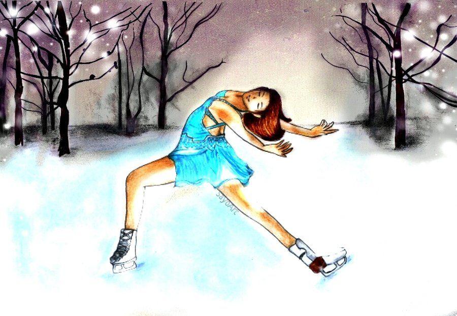 Ice Skating Backgrounds Ice Skating by SayoArt on deviantART 900x622