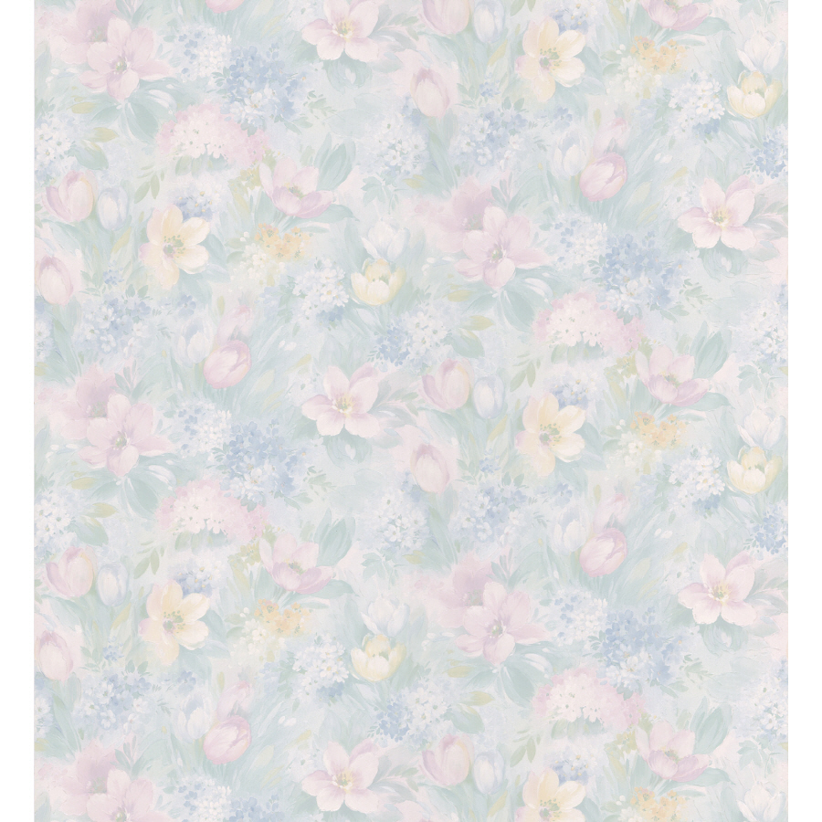 Free Download Brewster Wallcovering Light Blue Floral Pattern