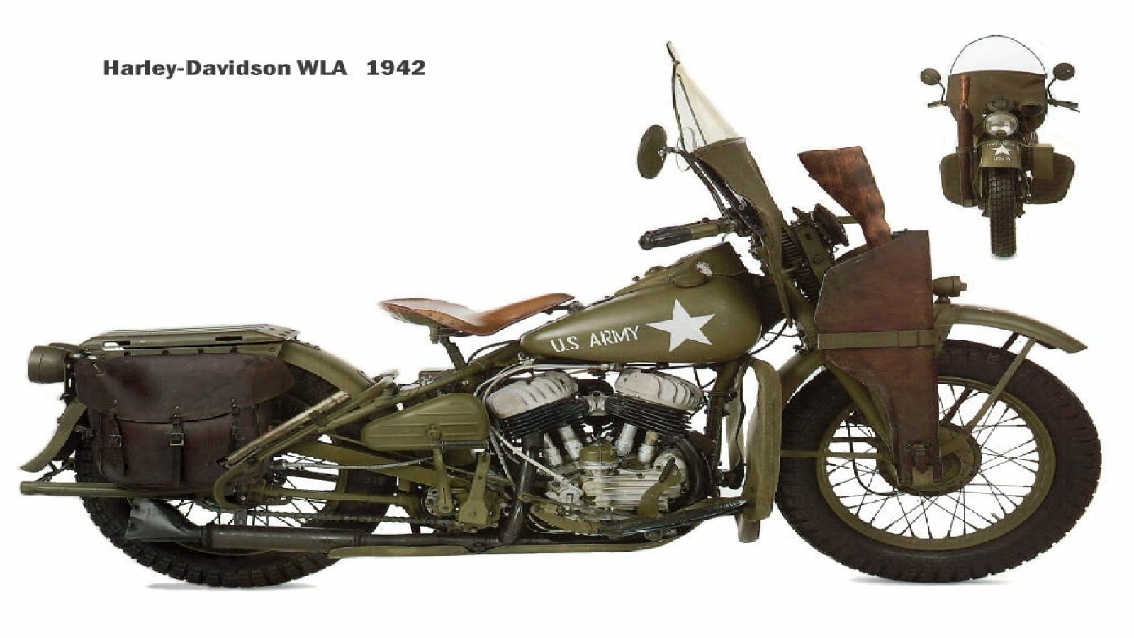 1942 Military Harley Army Bikes Motorcycles 1600x900