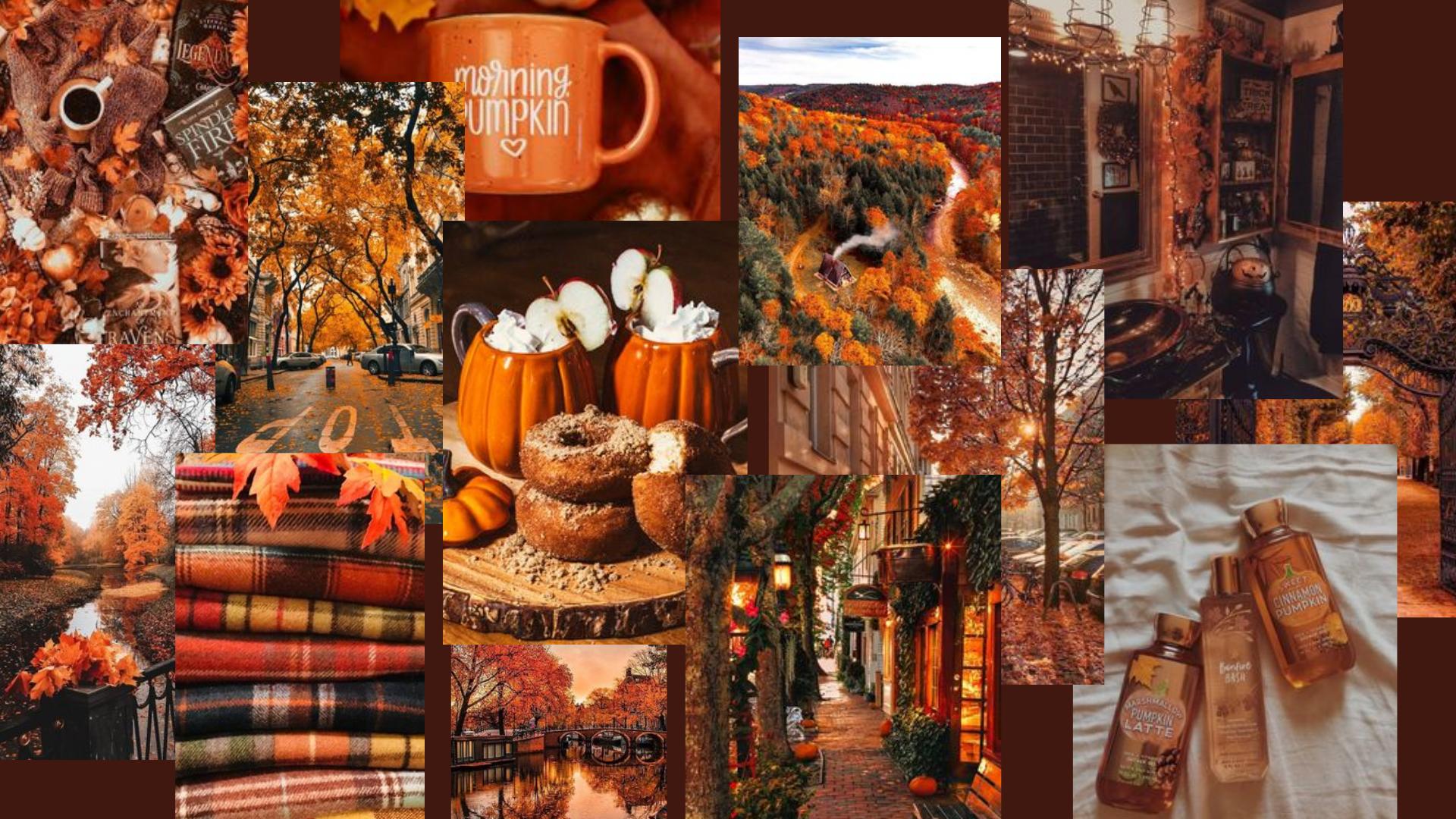 Fall aesthetic mac wallpaper Desktop wallpaper fall Halloween 1920x1080