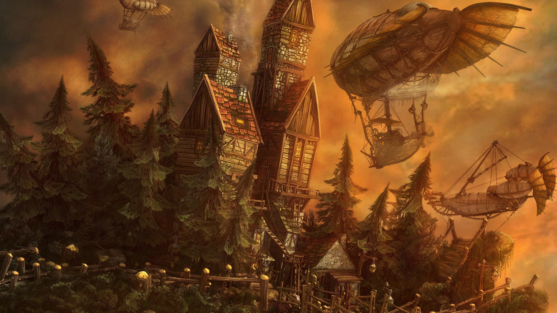 Sci Fi   Steampunk Wallpaper 1920x1080