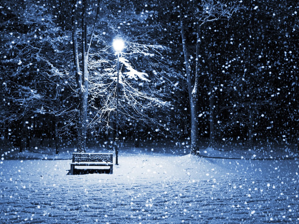 Snowy Winter Night Scenes Wallpaper - WallpaperSafari