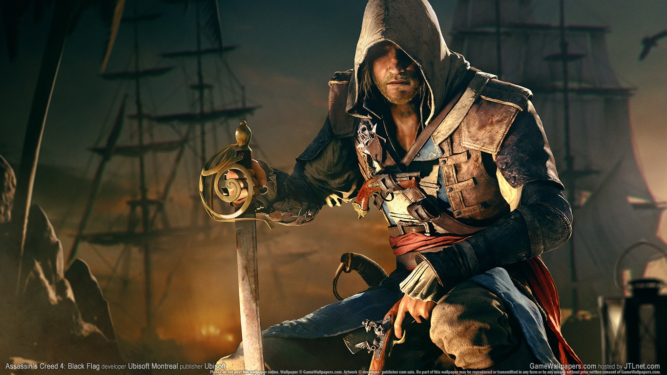 Assassins Creed IV Black Flag Wallpaper and Background Image 1366x768