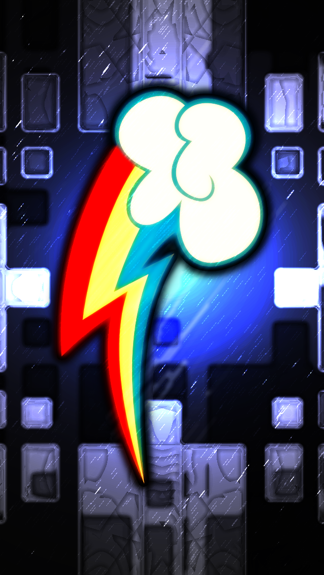 iPhone 5   Rainbow Dash CM Wallpaper by Game BeatX14 640x1136