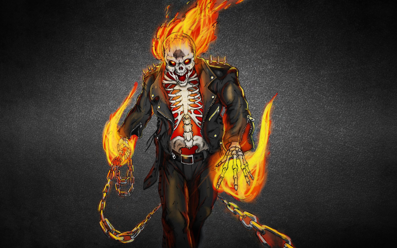 Wallpaper ghost rider ghost rider skeleton fire flame skull 2880x1800