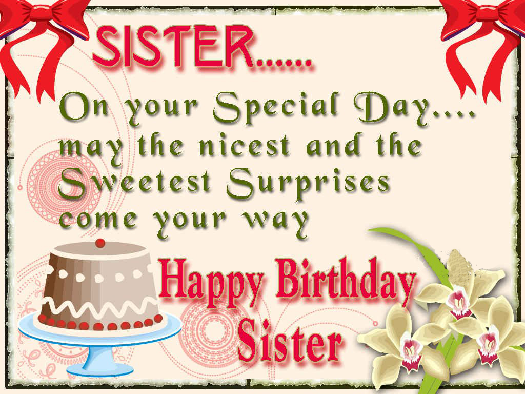 Happy Birthday Sister Greeting Cards Hd Wishes Wallpapers Full