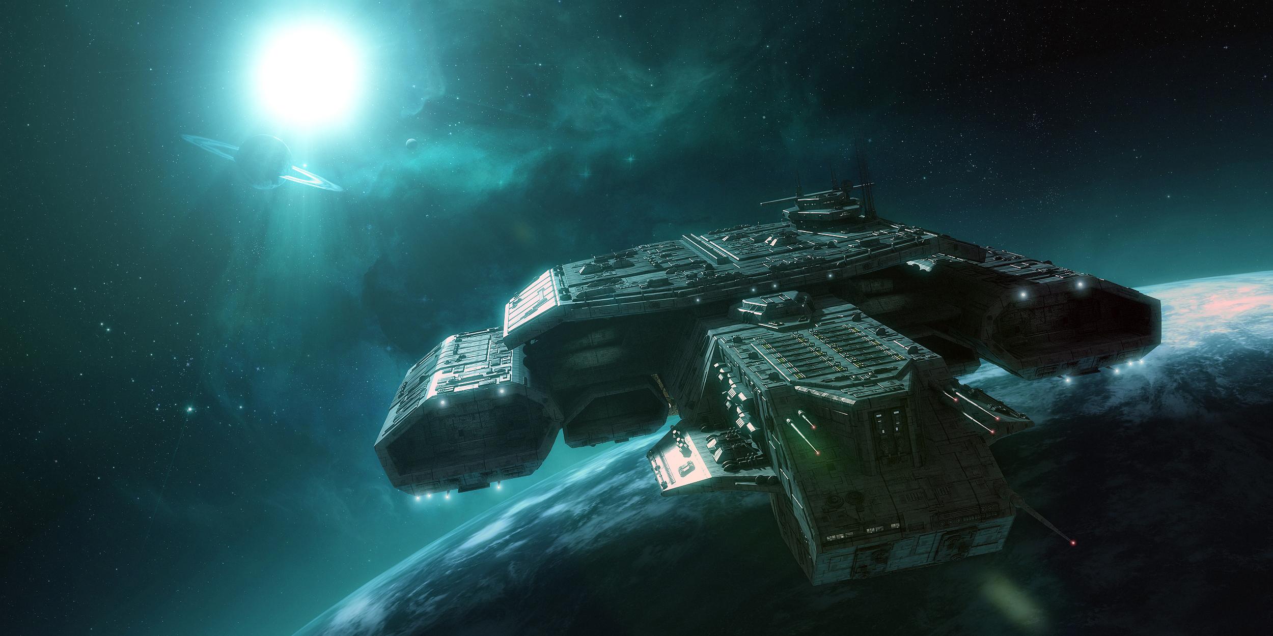Sci Fi Wallpaper HD 2500x1250